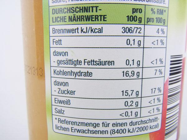 Kalorien apfelmus gut g nstig for Babyzimmer gut und gunstig