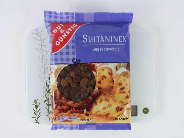 Kalorien sultaninen rosinen gut und g nstig for Babyzimmer gut und gunstig